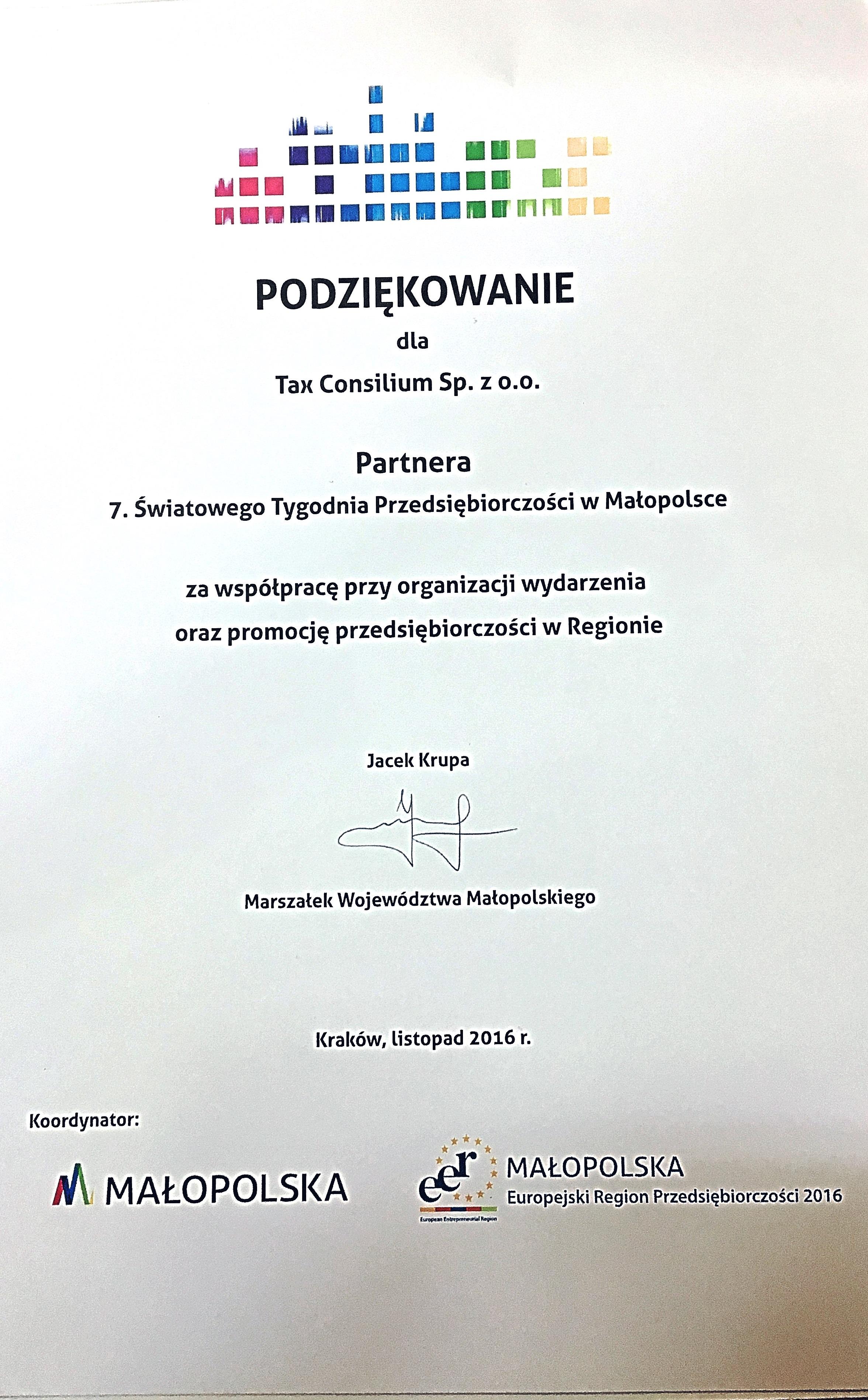 Światowy Tydzień Przedsiębiorczości R...