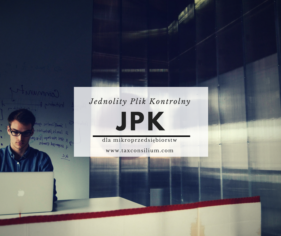 Jednolity Plik Kontrolny (JPK) dla mikro...