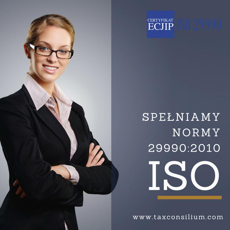 Spełniamy normy ISO 29990:2010!