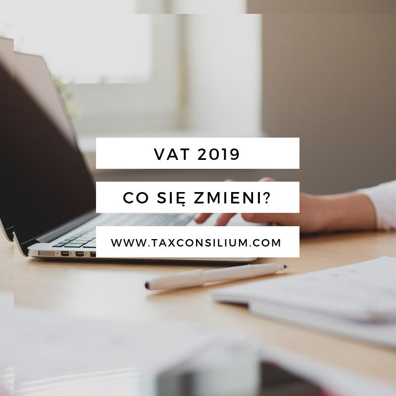 Podatek VAT 2019 – co warto wiedzi...