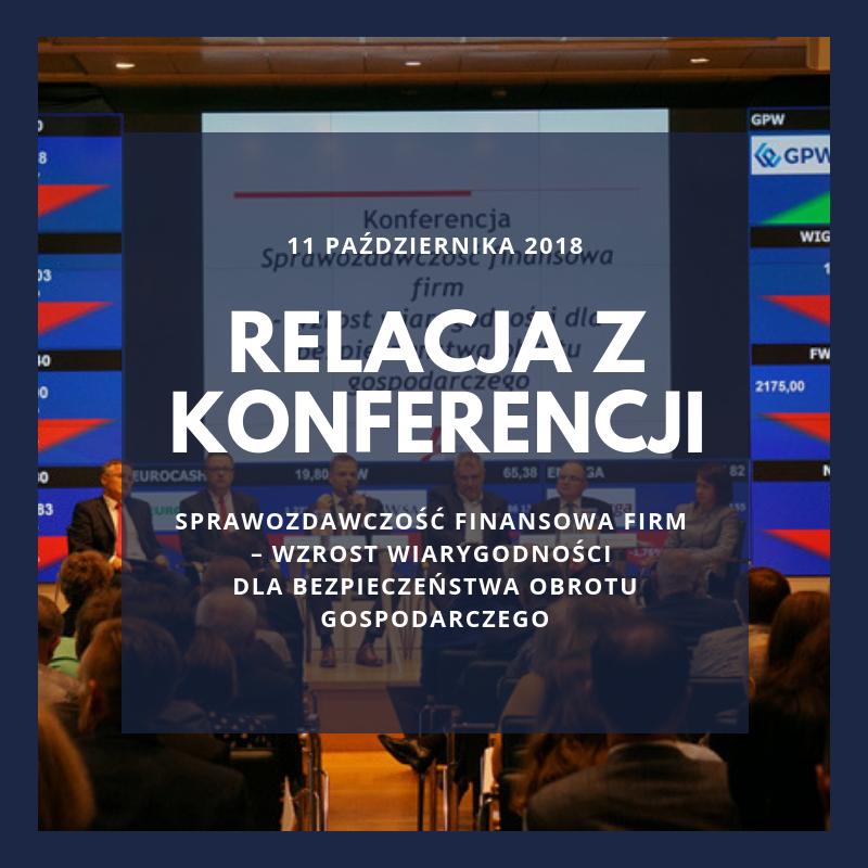 """Relacja z konferencji """"Sprawozdawczość f..."""