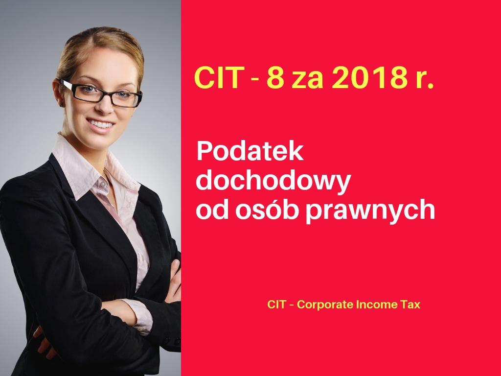 CIT – 8 za 2018r.